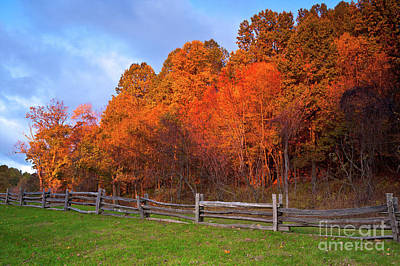 Photograph - Autumn Sunrise At Peaks Of Otter In The Blue Ridge by Dan Carmichael