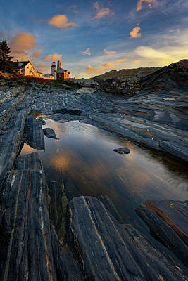 Photograph - Autumn Sunrise At Pemaquid Point by Rick Berk