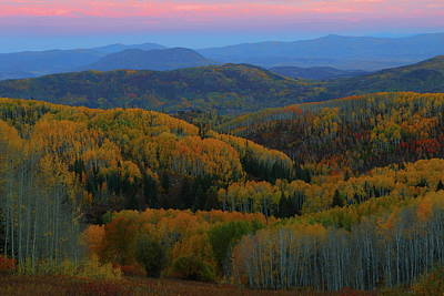 Photograph - Autumn Sunrise At Rainbow Ridge Colorado by Jetson Nguyen