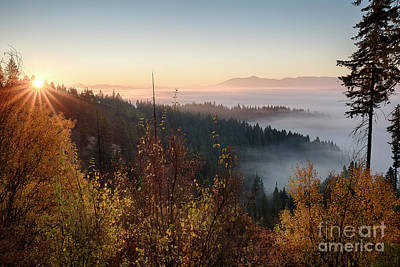 Photograph - Autumn Sunrise by Idaho Scenic Images Linda Lantzy