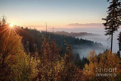 Photograph - Autumn Sunrise by Idaho Scenic Images Linda Lantzy
