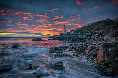 Photograph - Autumn Sunrise In Cape Elizabeth by Rick Berk
