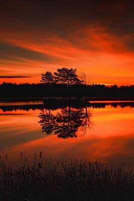 Photograph - Autumn Sunrise Over Boom Lake by Dale Kauzlaric
