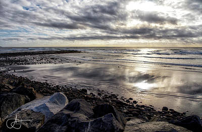 Photograph - Autumn Sunrise Over Long Sands Beach by John Hoey
