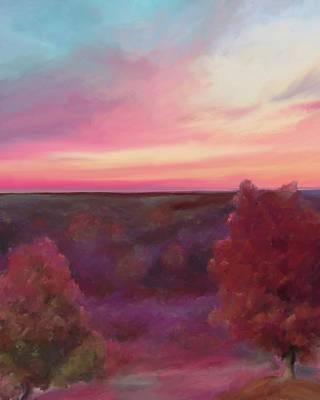 Autumn Sunset Print by Adam Rendaci