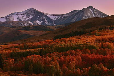 Photograph - Autumn Sunset At Conway Summit In The Eastern Sierras by Jetson Nguyen
