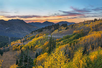 Autumn Sunset At Guardsman Pass, Utah Art Print
