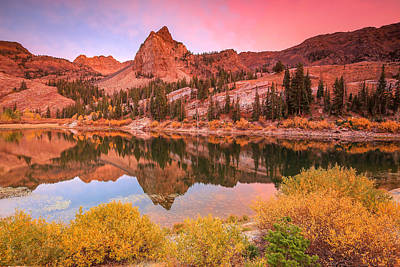 Photograph - Autumn Sunset At Lake Blanche. by Johnny Adolphson