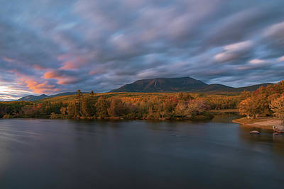Photograph - Autumn Sunset At Mount Katahdin by Jesse MacDonald