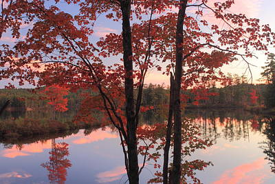 Photograph - Autumn Sunset At Tully Lake by John Burk