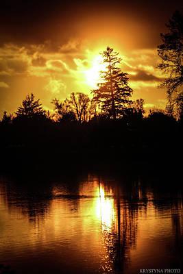 Photograph - Autumn Sunset by Christina Dutkowski