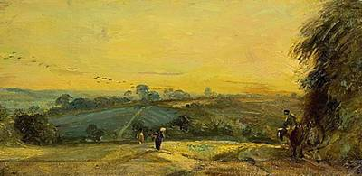 Painting - Autumn Sunset by Constable John