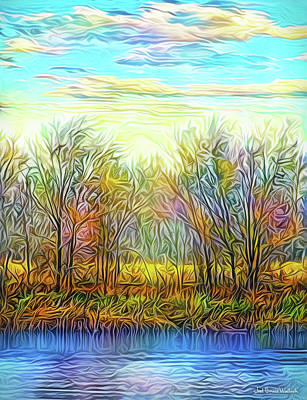 Digital Art - Autumn Sunset Dreamtime by Joel Bruce Wallach