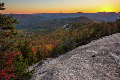Photograph - Autumn Sunset From Dickey Mountain by Chris Whiton
