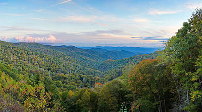 Photograph - Autumn Sunset In The Smokey Mountains by Simply  Photos