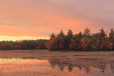 Photograph - Autumn Sunset by John Burk