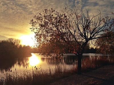 Photograph - Autumn Sunset by Leanna Lomanski