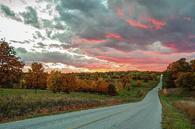 Photograph - Autumn Sunset On Fire by Gregory Ballos