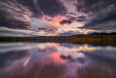 Photograph - Autumn Sunset On The Lake by Darren White