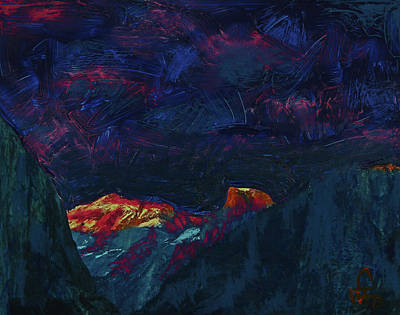 Mixed Media - Autumn Sunset Over Half Dome 2013 B by Walter Fahmy
