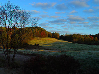 Cummington Photograph - Autumn Sunset by Rosemary Wessel