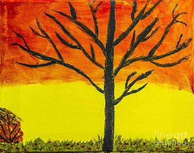 Painting - Autumn Sunset by Scott Hervieux