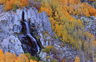 Photograph - Autumn Surrounds Mist Falls In The Eastern Sierras by Jetson Nguyen