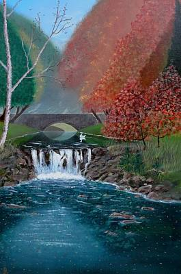 Painting - Autumn Swan by John Lyes