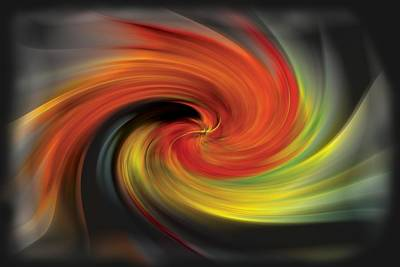 Photograph - Autumn Swirl by Debra and Dave Vanderlaan