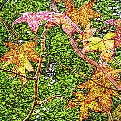 Digital Art - Autumn Sycamore Afternoon by Joel Bruce Wallach