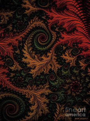 Digital Art - Autumn Tapestry  by Elizabeth McTaggart