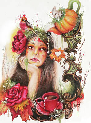 Drawing - Autumn Tea  by Sheena Pike