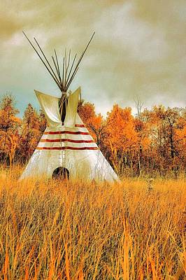 Photograph - Autumn Teepee by Nelson Strong