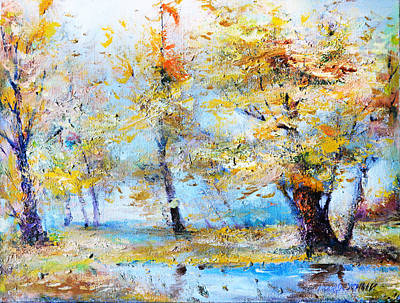 Autumn Tenderness Print by Oleg  Poberezhnyi