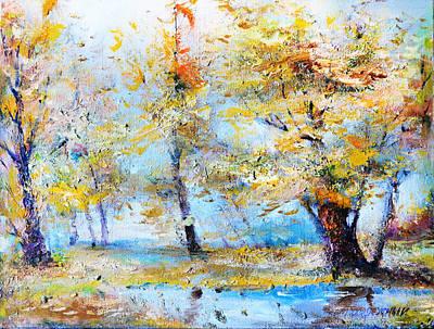 Painting - Autumn Tenderness by Oleg  Poberezhnyi