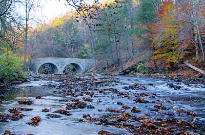 Wissahickon Photograph - Autumn - The Rex Avenue Bridge - Philadephia by Bill Cannon