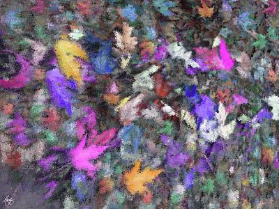 Photograph - Autumn Through A Window by Wayne King