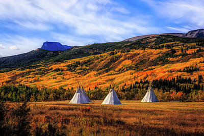 Photograph - Autumn Tipis  by Jack Bell