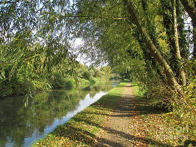 Photograph - Autumn Towpath by Martin Howard