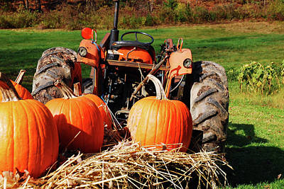 Photograph - Autumn Tractor Ride by James Kirkikis