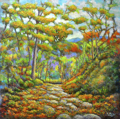 Painting - Autumn Trail by Eileen  Fong