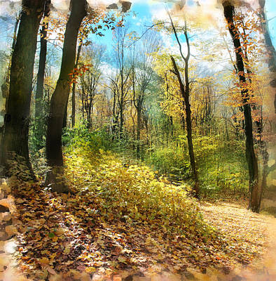 Autumn Landscape Mixed Media - Autumn Trail by Gina Signore