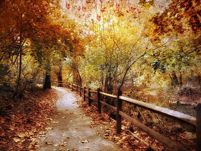 Autumn Trail Art Print by Jessica Jenney