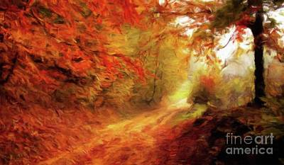 Autumn Trails Art Print by Sarah Kirk