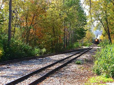 Photograph - Autumn Train by Scott Hovind