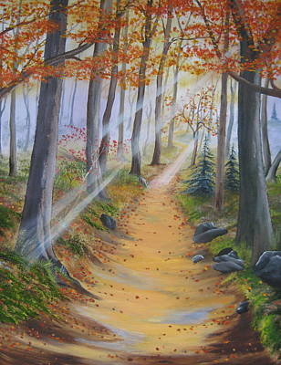 Painting - Autumn Tranquility by RJ McNall