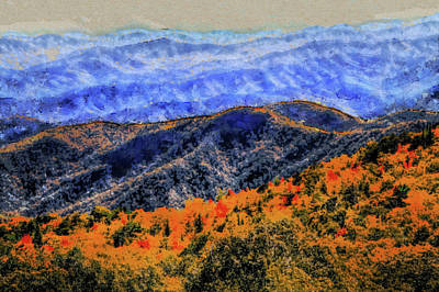 Painting - Autumn Transitions In The Blue Ridge Mountains by Dan Sproul