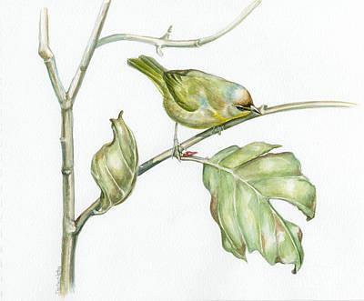 Autumn Traveller Art Print by Darlene Watters