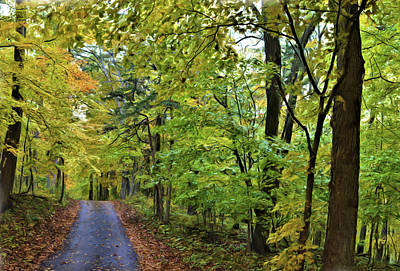 Mixed Media - Autumn Travels Painting by Bonfire Photography