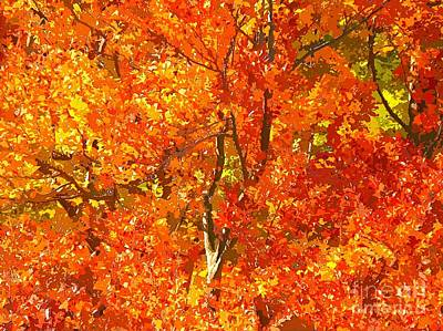 Autumn Tree Landscape Art Print